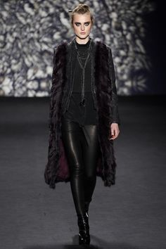 Nicole Miller Winter/Autumn 2014-15  Burgundy Raven