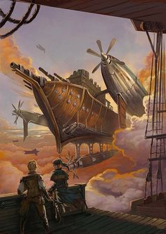 #steampunk #fantasy Impressive cover art for the steampunk novel, The Exile's Violin, by R.S. Hunter. Illustration by Enggar Ajar Adirasa, http://sensevessel.deviantart.com/art/The-Exile-s-Violin-Cover-331344044