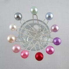 Lot 5 épingles Perles Nacrées - Epingles à Cheveux - Accessoires de Mariage  - Eclats de Cristal 91fc1a71a9ff