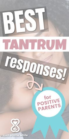 Are you at a loss for what to do when your toddler throws a temper tantrum? Learn how to deal with toddler meltdowns the positive discipline way with the Tantrum Response Plan by Such a Little While! Ideal for toddlers months through 5 years old. #howtostop #4yearold #3yearold #2yearold #18monthold Gentle Parenting Quotes, Parenting Advice, Kids And Parenting, 4 Year Old Tantrums, All About Mom, Toddler Behavior, Toddler Stuff, Positive Discipline, Parent Resources