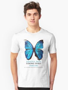 I designed this butterfly to raise awareness for the disease EB – Epidermolysis Bullosa. / Children who have this disease are often called butterfly children because their skin is literally as fragile as a butterfly. They live in pain EACH AND EVERY MOMENT of their LIFE! / The butterfly is not perfect in it's pattern, it has signs of being torn and broken down, but it is still beautiful and it is strong. Those who have EB deserve a cure. The deserve to live witho...