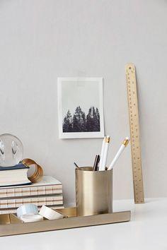 Brass desk set | Papermash