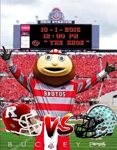 10-1-2016 GAME #4 RUTGERS VS. THE GAME POSTER.