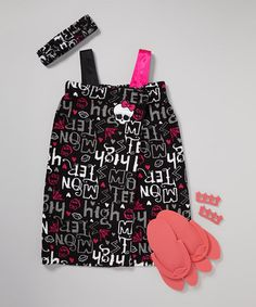 Take a look at this Black 'Monster High' Spa Set - Girls by PJ & Me on #zulily today! this is for my little beauty queen