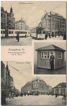 Königsberg Pr. Erfrischungshalle am Roßgärter Markt,. Ansicht um 1920