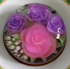 Pink and violet jelo