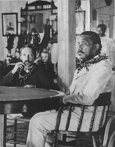 "Robert Louis Stevenson with King Kalākaua, Honolulu, Hawaii, 1889. ""No man is useless while he has a friend."" -RLS"