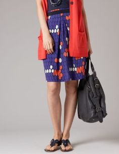 Swishy Viscose Skirt WG403 Above Knee Skirts at Boden ($50-100) - Svpply