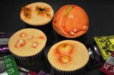 STD awareness cupcake set(!)  http://evilcakehead.com/2012/09/11/std-awareness-cupcake-set/#