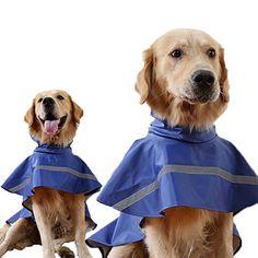 Guardian Gear Dog Raincoat Waterproof Vinyl Rain Jacket Hook//Loop Closures
