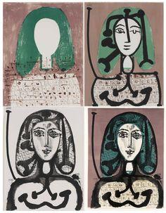 """""""La Femme à la Résille (Femme aux cheveux verts) Four States 1949"""""""