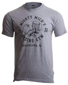 aea327ed Mighty Mick's Boxing Gym 1976   Philadelphia Boxer Vintage Style Gloves T- Shirt Sport Grey