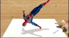 Real Time Drawing: Spider-Man 3D #drawing Avengers: Infiniti War Suit | ...