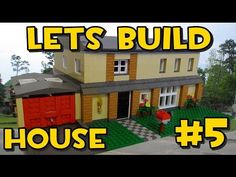 Lets Build Lego Family House #5 - The Roof - YouTube