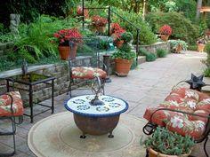 backyard patio, garden patios, retaining walls, outdoor live, gardens, backyard oasis, garden design ideas, deck, patio ideas