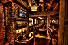 Downstairs Bar and Restaurant fireplace