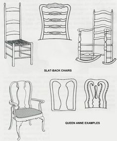 Chart of different Furniture Styles  sc 1 st  Pinterest & Furniture anatomy of a Chair - describing different furniture parts ...