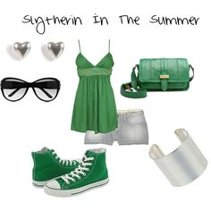 Slytherin In The Summer, created by nearlysamantha on Polyvore