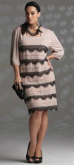 VAMP LACE EDGE DRESS## - Dresses - My Size, Plus Sized Women's Fashion & Clothing