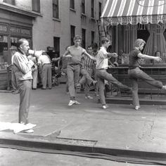 """Jerome Robbins teaching while on set of """"West Side Story"""""""