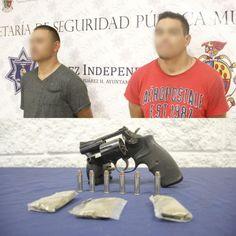 Cae en Juárez banda de asaltantes en flagrante delito con un revólver calibre .357 Magnum, seis balas y marihuana | El Puntero