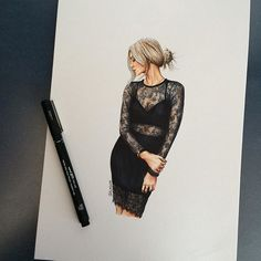https://www.etsy.com/shop/LOOKillustrated  fashion illustration, custom fashion illustration, fashion sketch, lookillustrated, etsy