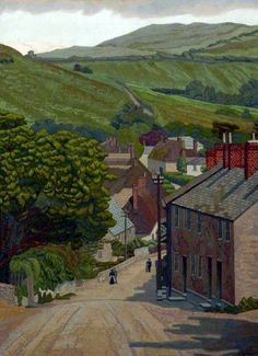 Chideock, Dorset by Charles Ginner      Oil on canvas, 51 x 43 cm