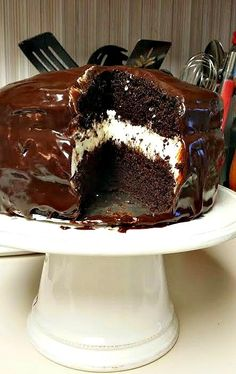 Ding Dong Cake - The most requested cake at my house. It is AWESOME!!!!!