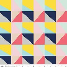 Riley Blake Idle Wild Triangle Knit- Blue - Peek-a-Boo Pattern Shop Baby Dress Pattern Free, Baby Dress Patterns, Sewing Patterns, Collage, Diy Sewing Projects, Buy Fabric, Riley Blake, Modern Fabric, Knitting