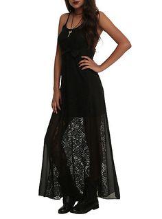 Skull Crochet Maxi Dress | Hot Topic- I would cut off the bow.