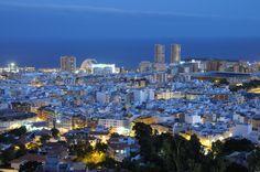 Santa Cruz de Tenerife at dusk. Canary Islands, Spain