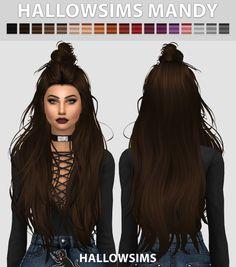 Hallow Sims: Mandy hair  - Sims 4 Hairs - http://sims4hairs.com/hallow-sims-mandy-hair/