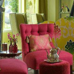 pink colour scheme | Modern Color, Honeysuckle Pink Color Decorating