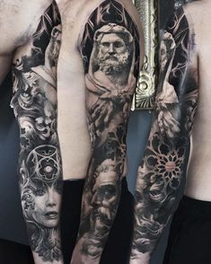 Amazing tattoo by mathieu varga member of – Tattoos Skull Sleeve Tattoos, Best Sleeve Tattoos, Tattoo Sleeve Designs, Tattoo Designs Men, Religious Tattoo Sleeves, Religious Tattoos, Christ Tattoo, Jesus Tattoo, God Tattoos