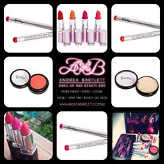 Harlotte Cosmetics - Brights Collection - Available at Andrea Bartlett - Make-up & Beauty Bar