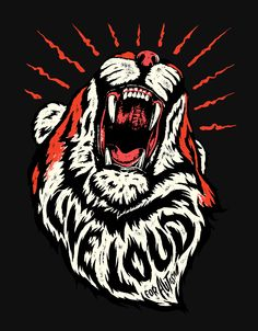 It's absolutely amazing work. Loving the tiger live loud nathan yoder lion type text font typography letters Tiger Illustration, Digital Illustration, Illustrations, Graphic Design Inspiration, Travel Inspiration, Typography Design, Typography Letters, Graphic Art, Cool Art