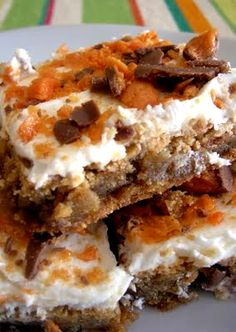 Butterfinger Bars - This is a must try recipe! Oh my goodness!!