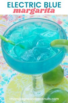 A classic drink, the electric blue margarita made with blue curacao is sure to hit the spot. Served on the rocks, it's so easy to make. Blue Margarita Recipe Pitcher, Margarita Azul, Tequila Recipe, Margarita Recipes, Blue Curacao Drinks, Blue Curacao Liqueur, Tequila Drinks, Tequila Tasting, Drinks Alcohol
