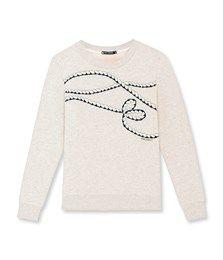 Sweat femme brodé gris Beluga. Retrouvez notre gamme de vêtements et sous-vêtements pour bébé, enfant, mode femme et homme.