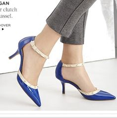 """Sole Society.com """"Anneke"""" in Cobalt Blue! I've purchased 5-6 prs of this style & I LOVE THEM!! I've actually bought @ least 11 prs++ from this company & I've Not Been Disappointed 1bit!! Fit Great & Look Great. (2 1/2"""" heel height)"""