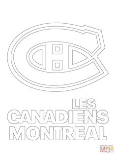montreal canadiens habs logo nhl hockey coloring pages printable and coloring book to print for free find more coloring pages online for kids and adults of