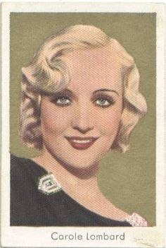 1934 Salem's Carole Lombard Tobacco Card