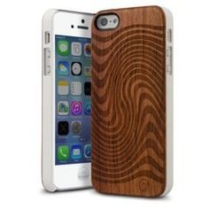 Make your mark with the MarBlue Jetstream Wood Series iPhone 5S case. Handcrafted, genuine Palisander wood is accentuated with a vibrant engraved pattern. The Jetstream is a thick wood plate bonded to a polycarbonate shell for impact resistance and a low profile fit.
