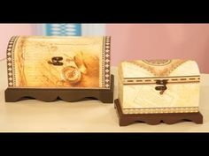Contracolado Artistico - Cofres - Miguel Lucero - YouTube Decoupage Box, Hope Chest, Youtube, Storage Chest, Decorative Boxes, Vintage, Beautiful, Craft Videos, Cartonnage