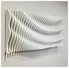 "Diy wall decor 467459636317038248 - Wooden Wall Art – ""Parametric Wave"" Source by biggnlv Wooden Wall Art, Wooden Walls, Wal Art, Modelos 3d, Parametric Design, 3d Wall Art, Acoustic Panels, 3d Prints, Wall Sculptures"