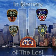 In memory of the lost usa patrotic in memory september 11 sept 11 never forget twin towers Remembering September 11th, 11. September, We Will Never Forget, Fallen Heroes, Sad Day, We Remember, World Trade Center, Places, American Flag