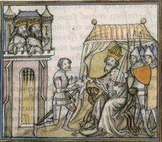 14th century / medieval tent ( manuscript : BNF Français 2606 Grandes Chroniques de France, Folio 125, 1375-1400, France )