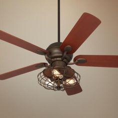 Casa Optima Industrial Oil-Rubbed Bronze Ceiling Fan -