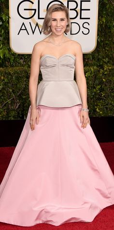 Golden Globes 2015: Red Carpet Arrivals - Zosia Mamet in Andrew Gn #InStyle
