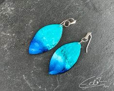 Handgearbeitete Ohrringe von Edith Arts Etsy Seller, Pendant Necklace, Drop Earrings, Trending Outfits, Unique Jewelry, Handmade Gifts, Vintage, Fashion, Blue Earrings